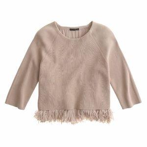 JCrew Collection Chiffon Fringe Sweater